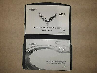 2017 Chevrolet Corvette Z06 GS StingRay Owner's Owners Owner Manual Portfolio