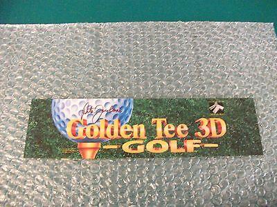 GOLDEN TEE 3D GOLF Arcade Markee Header Marquee Graphics