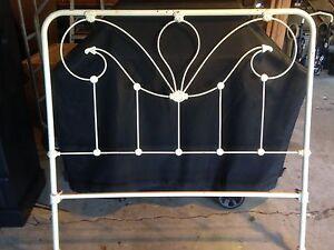 Vintage Antique Cast Iron Bed Frame