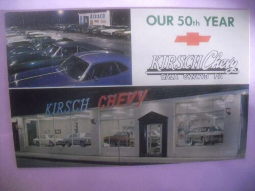 Kirsch Chevy auto car dealership 1960