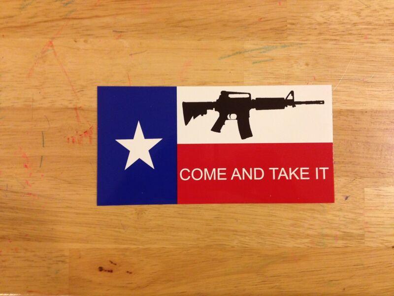 Texas State M-4 M4 Bumper Sticker Come and Get it Bumper Sticker Texan free ship