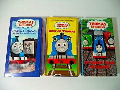 Lot of 3 Thomas Train VHS Tapes TESTED, Steamies Diesels, Best of, Great Engine