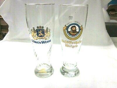 Tall - German - Swirl (1)  Beer Glasses - Set of 2 LOWEN WEISSE SCHOFFERHOFER