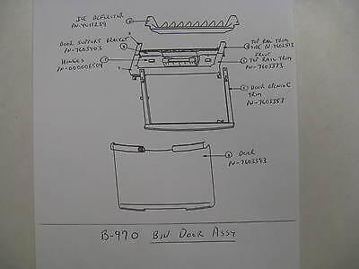 76-0339-3   Door For Ice Bin Model B970 7603393