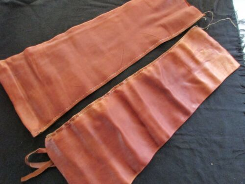 VINTAGE LEATHER LEGGINGS,  OLD WEST, TRAPPER STYLE, TIE ON TYPE  OTT-0821*05836