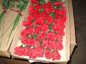 10 x Seidenblumen ROSEN ROT Dekoartikel Seidenrose Seidenrosen Textilblumen