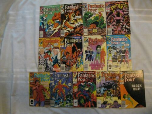 Thirteen Fantastic Four Marvel Comics  260-291 1983-86