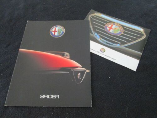 1989 1990 Alfa Romeo Spider Veloce Quadrifoglio Graduate Brochure Sales Catalog
