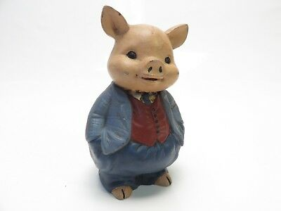 Animals In A Suit (Vintage Pig in a Suit Figurine, Resin, 4.5