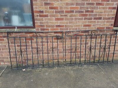 Wrought iron drive gates 8 ft 6 in a