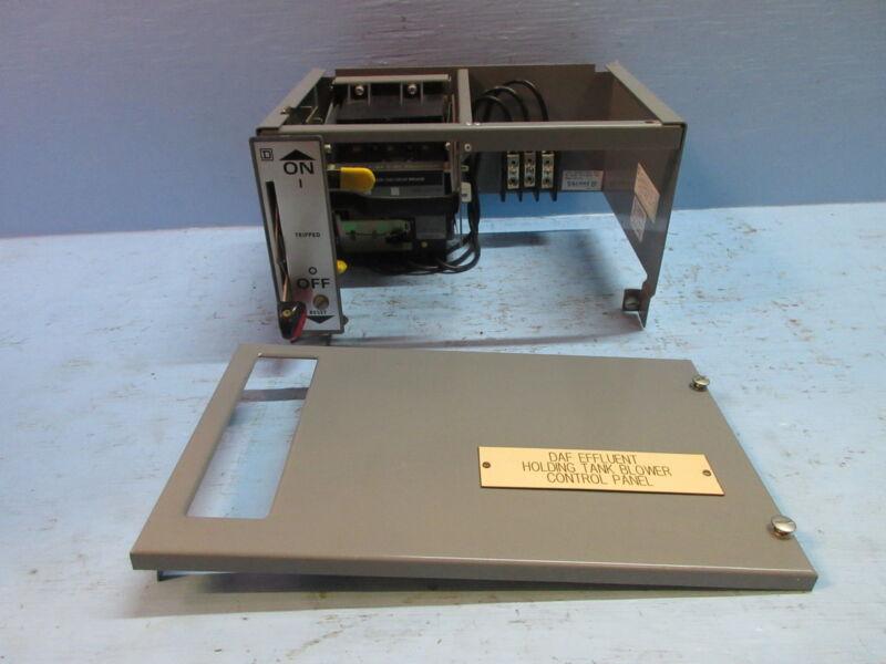 "Square D Model 5 15 Amp Breaker 9"" Motor Control MCC Feeder Bucket w/ Breaker"