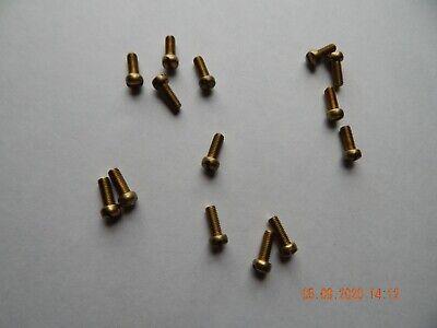 Brass Fillister Head Slotted Machine Screws 1032 X 12 15 Pcs. New