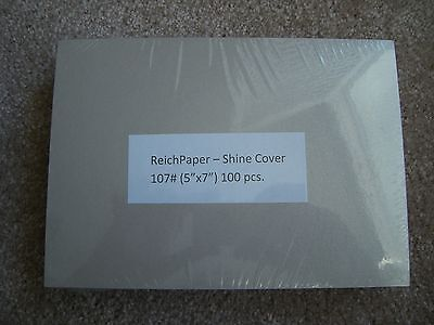 Reich Shine Champagne 107# Cover Weight Paper, 100 Sheets 5x7 Cover Weight Paper