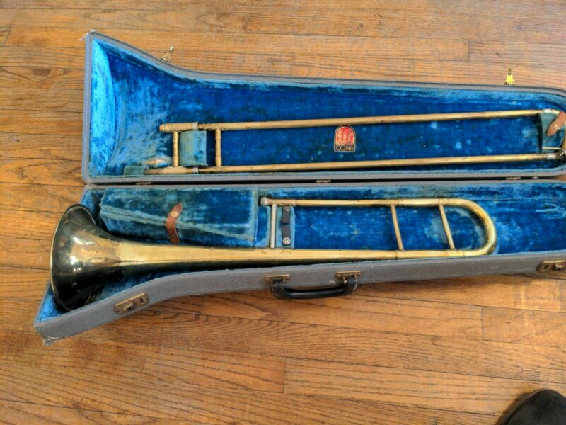 Nice Vintage Martin Handcraft Imperial Silver Plated Trombone wCase S: 189491