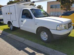 2006 Ford Courier turbo diesel with Telstra box body Wangara Wanneroo Area Preview