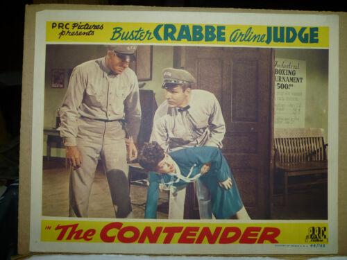 THE CONTENDER, orig 1944 LC (Buster Crabbe picks up Arlene Judge)