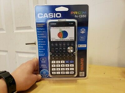 Casio FX-CG50 Prizm 3-D, Color-Display Graphing Calculator, New In Box.