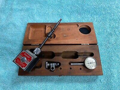 Starrett No. 657 Magnetic Base With Starrett No. 196 Dial Indicator W Case