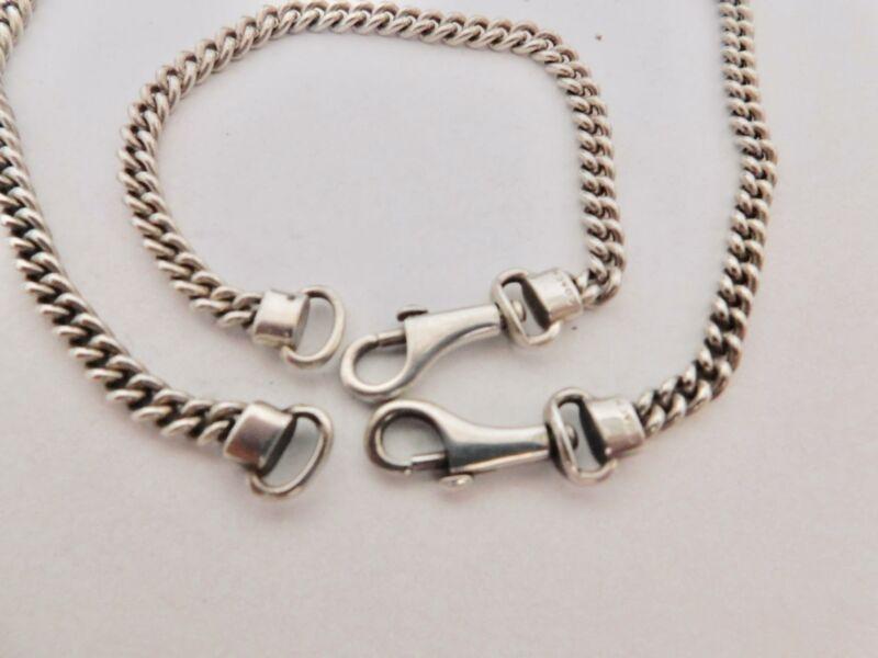 """""""COACH"""" 925 Sterling Silver Necklace & Bracelet Demi-Parure"""