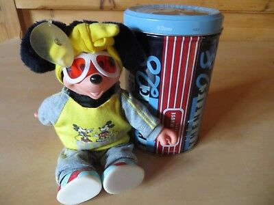 MICKEY MOUSE MIT MOTORRAD-BRILLE - IN BLECHDOSE