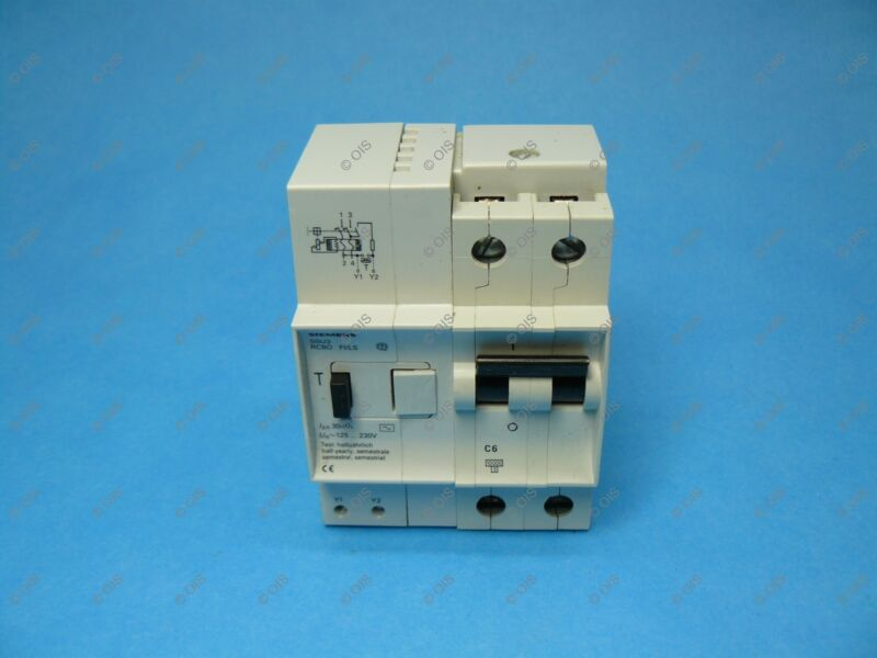 Siemens 5SU3 767-0KV06 DIN Rail RCBO Circuit Breaker 2 Pole 6 Amps 125/230VAC