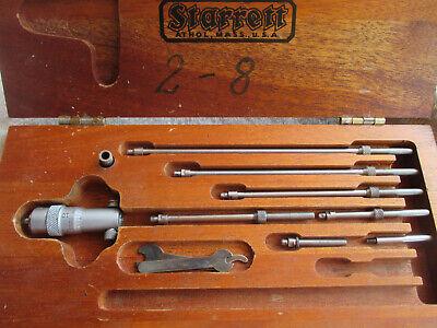 Starrett 124 Solid Rod Inside Micrometer Set