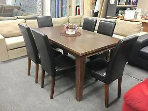TODAY DELIVERY BEAUTIFUL 7 pcs MODERN SOLID WOOD dining table Belmont Belmont Area Preview