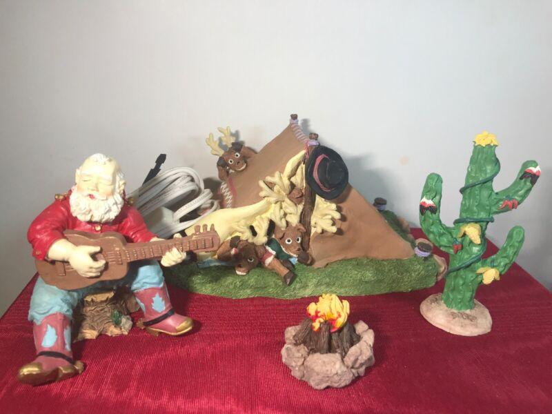 House of Lloyd Christmas Carols Around the Campfire Western Santa Claus Cactus