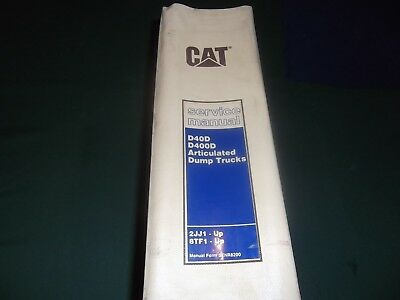 Cat Caterpillar D40d D400d Dump Truck Service Shop Repair Manual Sn 2jj 8tf