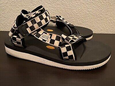 Suicoke Depa-V2 Sandal 10 Black/White Vibram Sole Checkered Sz 12