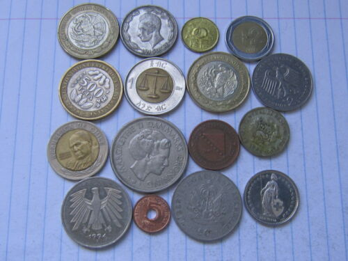 Lot of 16 world coins #25 (Free combined shipping!!!)