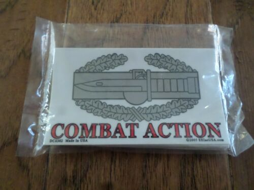 U.S MILITARY ARMY COMBAT ACTION BADGE WINDOW DECAL BUMPER STICKER CAB USA MADE
