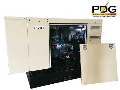 20 Kw Diesel Generator Perkins Sound Enclosure 50 Gallon Fuel Tank Auto Start