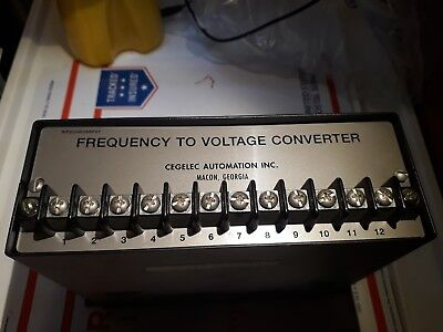 Frequency to Voltage Converter NP800B088F01 CEGELEC AUTOMATION INC  Frequency Voltage Converter