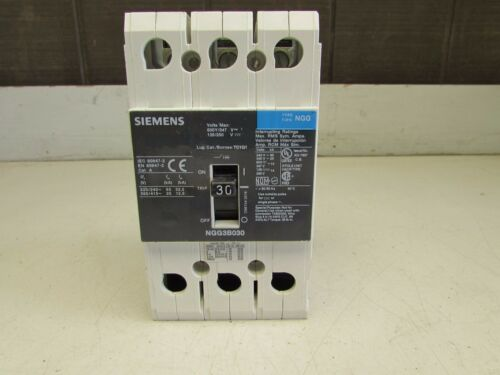 SIEMENS NGG3B030 CIRCUIT BREAKER   3P -30 AMP / 480V  GOOD TAKEOUT! MAKE OFFER!