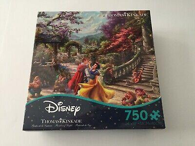 New CEACO Brand Thomas Kinkade Disney Snow White 750 Piece Jigsaw Puzzle