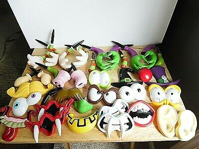 Halloween Spare Parts for Pumpkin Decorating Witch, Scary Faces, Dracula Gemmy