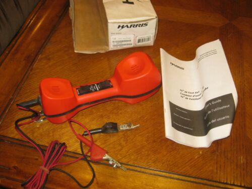 Harris TS30 butt set lineman handset telephone line analyzer  - with box