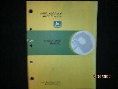 John Deere 4050 4250 4450 Tractor Operators Troubleshooting Manual Original
