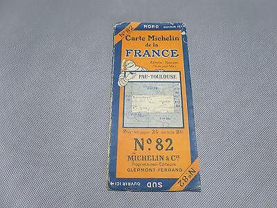 Card Michelin No 82 Pau-Toulouse 1924/Collector Bibendum Vintage