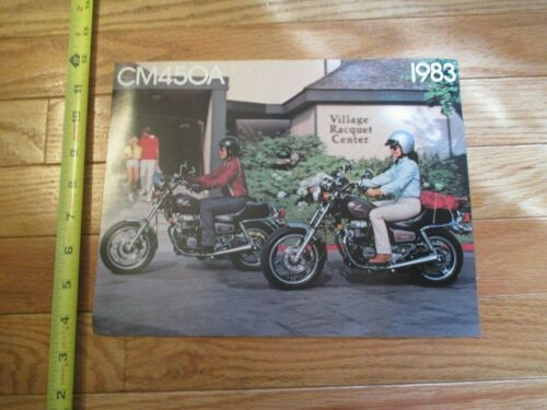 Honda motorcycle CM450A 1983 Vintage Dealer Sales Brochure