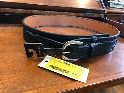 Safariland 87V Hook Lined 2.25 Duty Belt HiGloss Blk Nickel Buckle 32 Waist