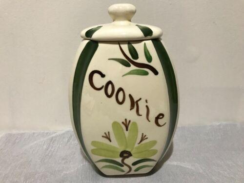Vintage Purinton Pottery Slip Ware Cookie Jar