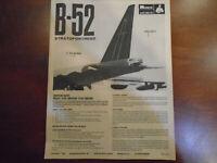 Vintage AD Model Of The Year MONOGRAM Boeing B-52 Sweeps Advertisement VirusFREE
