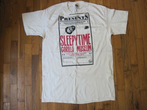 Sleepytime Gorilla Museum John Kane Society Original T-Shirt Large Shirt RARE