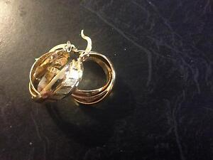 9ct gold FILLED hoops Greenfields Mandurah Area Preview