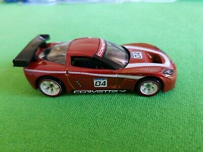2010 Hot Wheels Speed Machines CORVETTE C6R Redish LOOSE