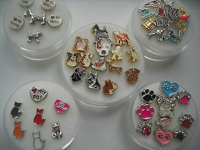 Floating Charms for Glass Lockets Animals Birds and Pets, Dogs, Cats - Floating Lockets And Charms