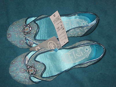 Disney Store Frozen Elsa Shoes for Girls Flats Embroidery Mesh Sequins 13 /1 - Blue Flats For Girls