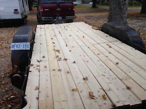 16 foot double axel flat bed trailer